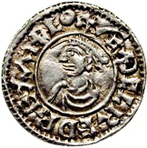Penny - Æthelred II (1st Hand type; bust left) – obverse