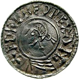 Penny - Æthelred II (Last Small Cross type) – obverse