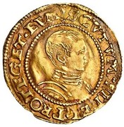 ½  Crown - Edward VI (2nd period; uncrowned bust) – obverse