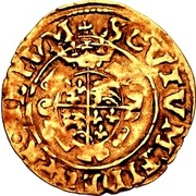 ½ Crown - Edward VI (2nd period; crowned bust) – reverse