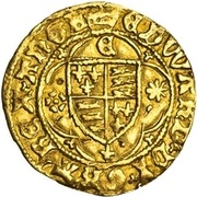 ¼ Ryal - Edward IV (1st reign; Light coinage) – obverse