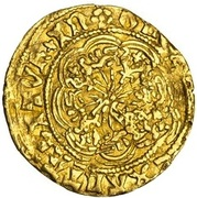 ¼ Ryal - Edward IV (1st reign; Light coinage) – reverse