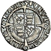 1 Penny - Henry VIII (1st coinage; Durham mint) -  reverse