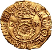 ½ Crown - Henry VIII (3rd coinage) – obverse