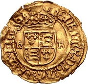 ½ Crown - Henry VIII (3rd coinage) – reverse