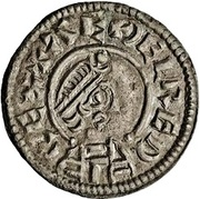 Penny - Æthelred I (Lunettes type) – obverse