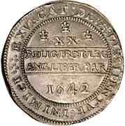 1 Pound - Charles I – reverse