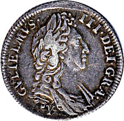1 Shilling - William III (1st bust; York mint) – obverse