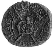 1 Farthing - Charles I (Rose Farthing; mule of types 3 and 4) – obverse