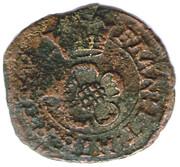 1 Farthing - Charles I (Rose Farthing; mule of types 3 and 4) – reverse