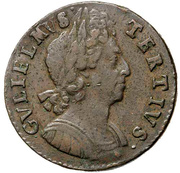 ½ Penny - William III (3rd issue) – obverse