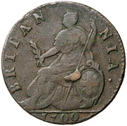 ½ Penny - William III (3rd issue) – reverse
