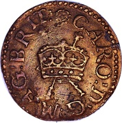 1 Farthing - Charles I (Richmond issue; type 4) – obverse