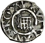 1 Farthing - Henry VIII (2nd coinage; London mint) – obverse