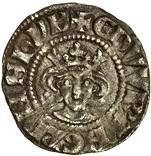 ½ Penny - Edward I (London mint; class 3b) – obverse