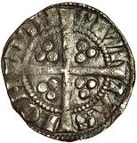 ½ Penny - Edward I (London mint; class 3b) – reverse