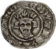 ½ Penny - Edward III (2nd coinage) – obverse