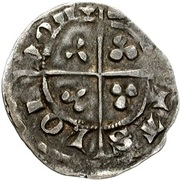½ Penny - Edward III (2nd coinage) – reverse