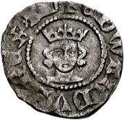 ½ Penny - Edward III (4th coinage; Treaty period) – obverse