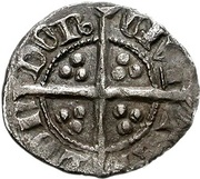 ½ Penny - Edward III (4th coinage; Treaty period) – reverse