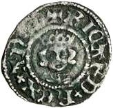 ½ Penny - Richard II (Intermediate style) – obverse