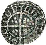 ½ Penny - Richard II (Intermediate style) – reverse