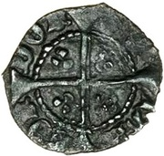½ Penny - Edward IV (1st reign; Heavy coinage) – reverse
