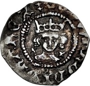 ½ Penny - Edward IV (1st reign; Light coinage) – obverse