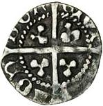 ½ Penny - Edward IV (2nd reign) – reverse