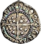 ½ Penny - Henry VIII (1st coinage) – reverse