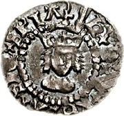 ½ Penny - Henry VIII (2nd coinage) – obverse