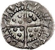 ½ Penny - Henry VIII (2nd coinage) – reverse