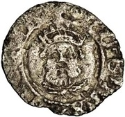 ½ Penny - Henry VIII (3rd coinage) – obverse