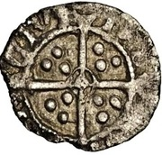 ½ Penny - Henry VIII (3rd coinage) – reverse