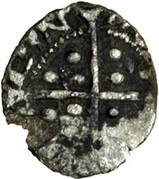 ½ Penny - Edward VI (1st period) – reverse