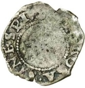 ½ Penny - Edward VI (3rd period; base issue) – obverse