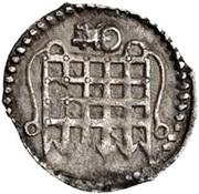 ½ Penny - Elizabeth I (6th issue) – obverse