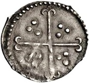 ½ Penny - Elizabeth I (6th issue) – reverse