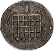 ½ Penny - Elizabeth I (7th issue) – obverse