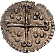 ½ Penny - James I (1st coinage) – reverse
