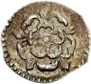 ½ Penny - James I (3rd coinage; no mintmark) – obverse