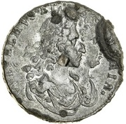 ½ Penny - William & Mary (draped busts) – obverse