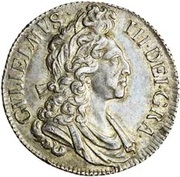 1 Shilling - William III (4th bust) – obverse