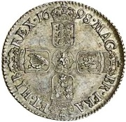 1 Shilling - William III (4th bust) – reverse
