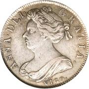 1 Shilling - Anne (1st bust) – obverse