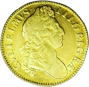 1 Guinea - William III (2nd bust) – obverse