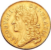 2 Guineas - James II – obverse