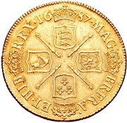 2 Guineas - James II – reverse
