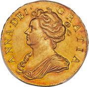 5 Guineas - Anne (pre-union shields) – obverse