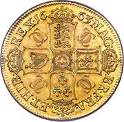 1 Crown - Charles II (1st bust; Pattern) – reverse